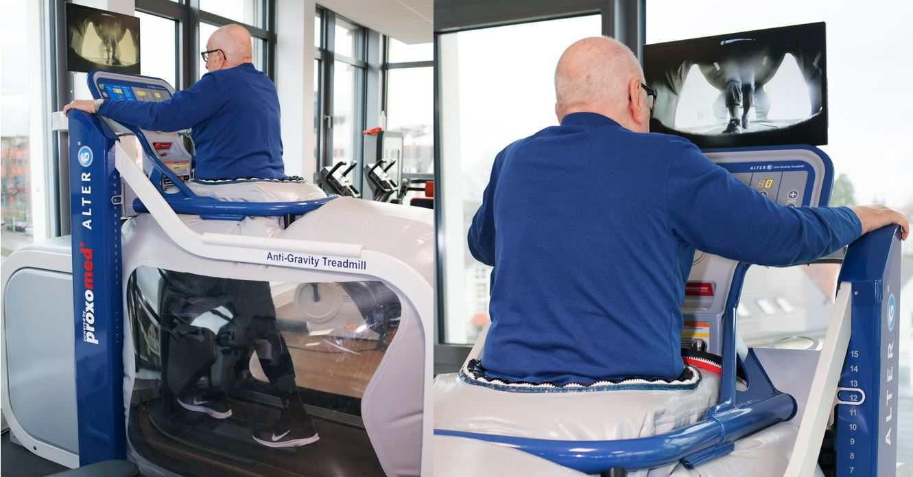 Training auf dem Schwereloslaufband AlterG im RehaZentrum Offenburg